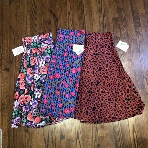 New LuLaRoe Azure Skirt Lot of 3 3XL